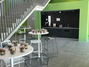 A new coffee corner has just opened in Building G at EPFL Innovation Park