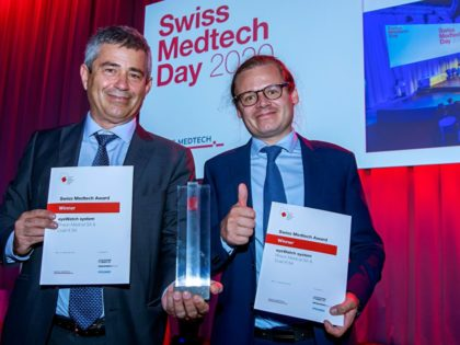 The Swiss Medtech Award goes to Rheon Medical and Coat-X