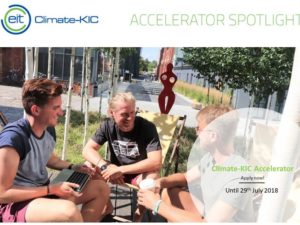 Climate-KIC Accelerator – Apply for Europe's biggest cleantech accelerator!