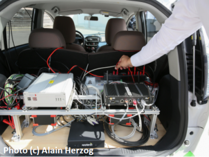 intelligent vehicles : a joint industrial project with Groupe PSA and EPFL DISAL Lab